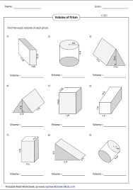 bunch ideas of area and volume worksheets for sample shishita