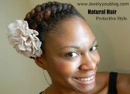 How To Do Flat Twist Hairstyles by Natural Hair Protective Style 1 Lovely You Blog