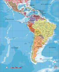Mexico And South America Map by Map Of Latin America And Caribbean You Can See A Map Of Many