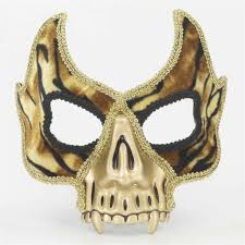 mardi gras mask and vire skull mask
