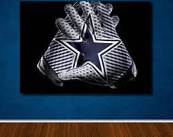 Dallas Cowboys Wall Decor Dallas Cowboys Art Etsy