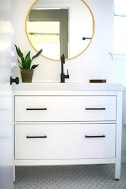 All In One Multipurpose Bathroom Furniture Which Hides A by My Ikea Hack Of Godmorgon Cabinet I Whitewashed Oak With Concrete
