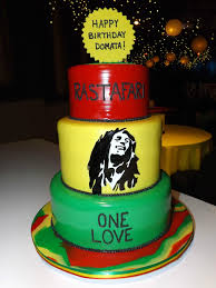 bob marley 2 tiered cake by https www facebook com pages carrys