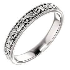 carved wedding band carved wedding rings princess jewelry