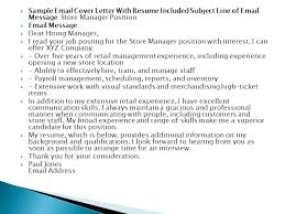 awesome sample email cover letter with resume included images