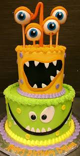 monster birthday cake children birthday cakes pinterest