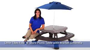 little tikes fold n store picnic table with umbrella outdoor