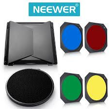 Barn Door Camera Mount by Amazon Com Neewer Barn Door U0026 Honeycomb Grid U0026 Gel Set For