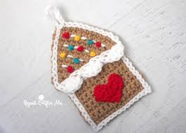 crochet gingerbread house ornament repeat crafter me