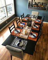 My Complete Dining Room Renovation For Thanksgiving Wall Color - Dining room table placemats