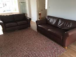 Marks And Spencer Leather Sofas Leather Sofa M S Matching Pair Large And Medium Leather