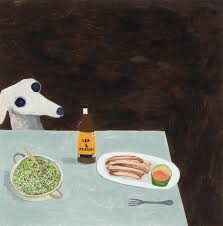 Dogs At Dinner Table Noel Mckenna National Portrait Gallery