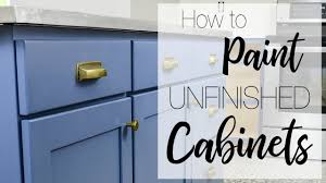 how to paint unfinished cabinets painting kitchen cabinets with a paint sprayer