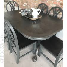 ebony table and chairs 6 chair table set finished in valspar vintage frame stained with