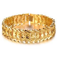 luxury man bracelet images Golden bracelets for men hd opk jewelry 2015 hot sale luxury 18k jpg