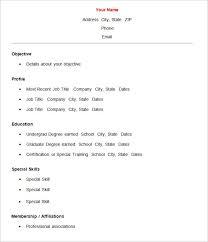 resume format in word basic resume template word