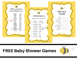 what will it bee theme baby shower free printable baby shower