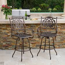 outdoor aluminum bar stools casselberry cast aluminum outdoor bar stool set of 2 by