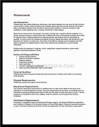 sample phlebotomy resume