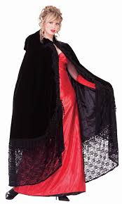 halloween costume with cape amazon com forum novelties victorian cape with lace black one