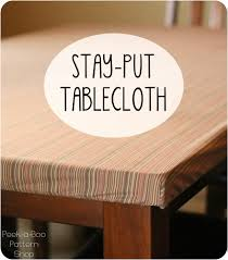 can you put a rectangle tablecloth on a round table stay put tablecloth tutorial