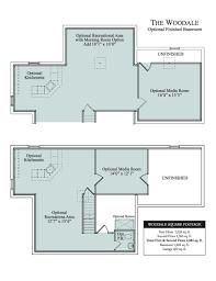 Finished Basement Floor Plans The Woodale Cedar Knoll Lancaster Home Builders