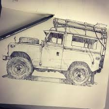 land rover drawing piscitellidesign series ii land rover that was parked at the