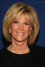 how to cut joan lundun hairstyle joan lunden with her hair in a neck length semi bob