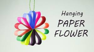 diy hanging paper flowers garland for easy decorations on