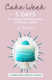 5 days to create professional looking cakes at home
