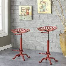 Industrial Counter Stools Amazon Com Adjustable Stool In Industrial Finish Kitchen U0026 Dining