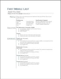 sample resume templates for highschool students student resume
