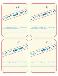 fillable birthday coupon the bittersweet project