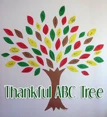 thankful abc tree a thanksgiving craft of gratitude