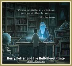 jigsaw quote game harry potter and the half blood prince back cover