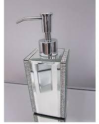mirrored bathroom accessories new savings on bella lux mirror rhinestone crystal soap lotion