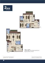 2bhk floor plan 2bhk study floor plan gls avenue 51 affordable sector 92 gurgaon
