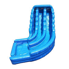 blue marble water slide bounce house castle house dual lane