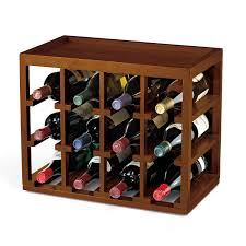 12 bottle cube stack wine rack wine enthusiast