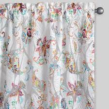Curtains Set Floral Sheer Burnout Curtains Set Of 2 World Market