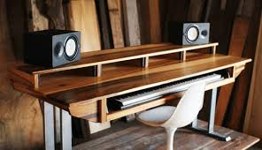 Diy Wood Desk Diy Studio Desk Plans Custom Fit For Your Needs Ledger Note