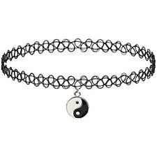 tattoo chokers necklace images Girlprops tattoo choker necklace yin yang popular in jpg