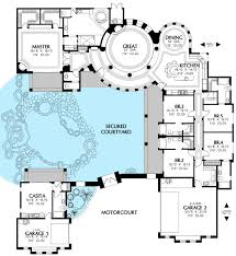 courtyard floor plans floor plan courtyard house plans u shaped with pool floor plan