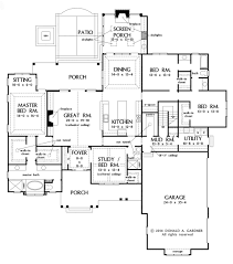 craftsman style house plan 4 beds 3 00 baths 2863 sq ft plan 929 7