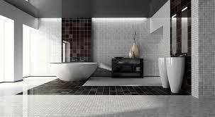 black and white bathroom tile design ideas white varnished wooden frame gray wall black and white bathroom
