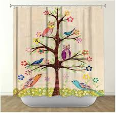 Owl Fabric Shower Curtain 13 Best Floral Shower Curtains Images On Pinterest Bathroom