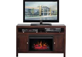 Electric Fireplace Entertainment Center Espresso 2 Pc 52 In Console With Electric Fireplace Tv