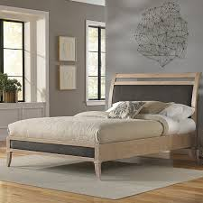 amazon com delano platform bed with wood frame and sleigh style