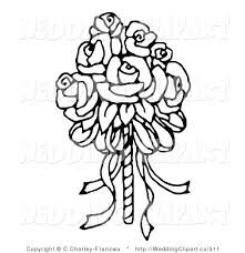 Wedding Flowers Drawing Bridal Bouquet Clipart Clipground