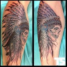 indian chief with by chris q tattoos